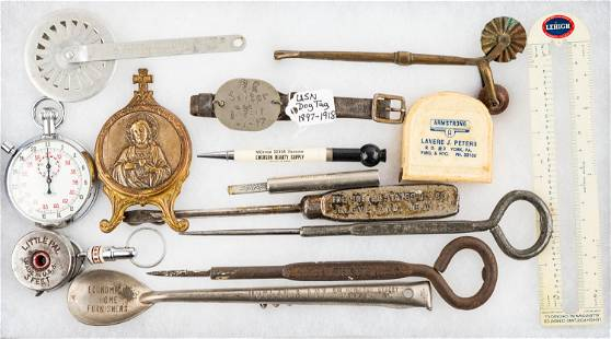 Early Navy Dog Tag and Advertising Tools