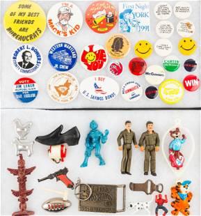 Mixed Toys & Pin-Backs (2 Trays)