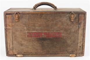 Early 20th C Black & Decker Toolbox w/ Tool