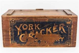 Vintage York, PA Cracker Bakery Crate