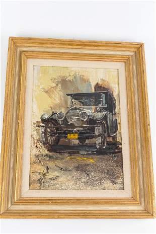 Edward Elhoff (American, 1929-1986) Oil on Board