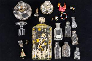 Silver Overlay & Other Bottles