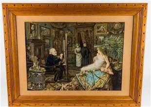 "Large Folio Print ""The Artist's Model"""