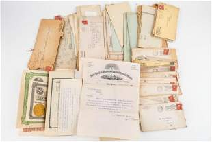 Early 20th C Gold & Oil Stock Certificates