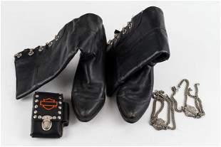 Genuine Harley Davidson Ladies Leather Boots Plus
