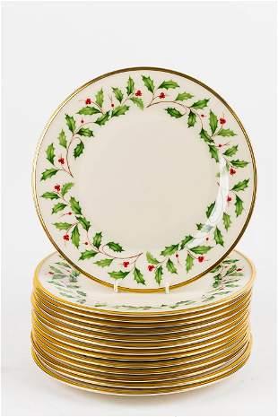 Lenox Holiday Dinner Plates Set of (14)