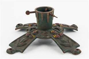 Early 20th C Cast Iron Christmas Tree Stand