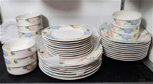 Mikasa Intaglio Pottery Dinnerware Grouping