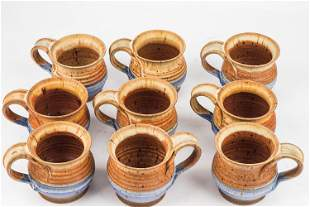 Thomas Reece Pottery Vintage Coffee Mugs