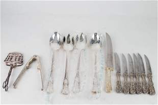 Mixed Silver Plated Flatware & Serving Pieces