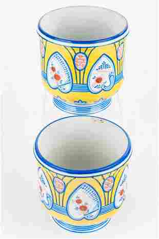 Tiffany & Co Hand-Painted French Vases