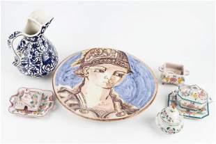 Icarus Ceramics Pitcher & Portuguese Items