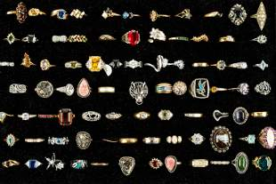 Large Decorative Ring Collection (Over 70)