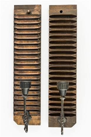 Cigar Mold Wall Sconces (Pair)