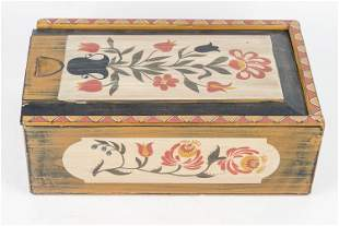 Hand-Painted Artisan Candle Box