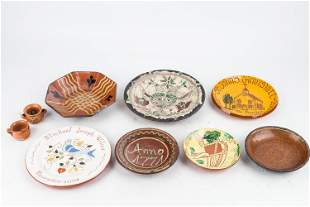 Artisan Sgraffito and Other Redware Plates