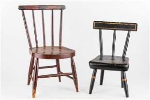 19th C Child's Chair & Another