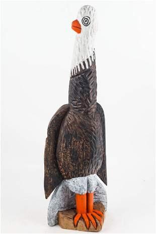 Hand-Carved Folk Art Bird (Eagle)