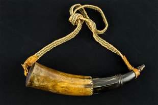 Carved Powder Horn by Robert Singer