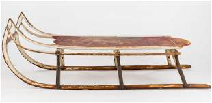 Painted Child's Sled Late 19th/Early 20th C