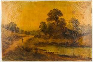 Goodwin 19th C Oil on Canvas Landscape