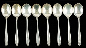 """International Sterling """"Prelude"""" Soup Spoons"""