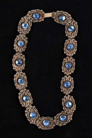 Unique Sterling Mexican Necklace