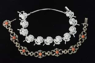Sterling & Marcasite Bracelets