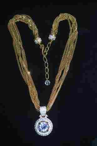 Swarovski Gold Tone Necklace