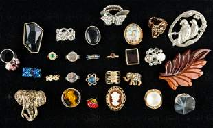 Vintage Brooches & Rings