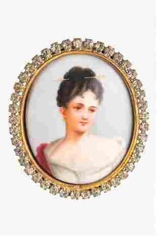 Antique Porcelain Portrait Miniature