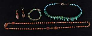Vintage Turquoise & Agate Jewelry