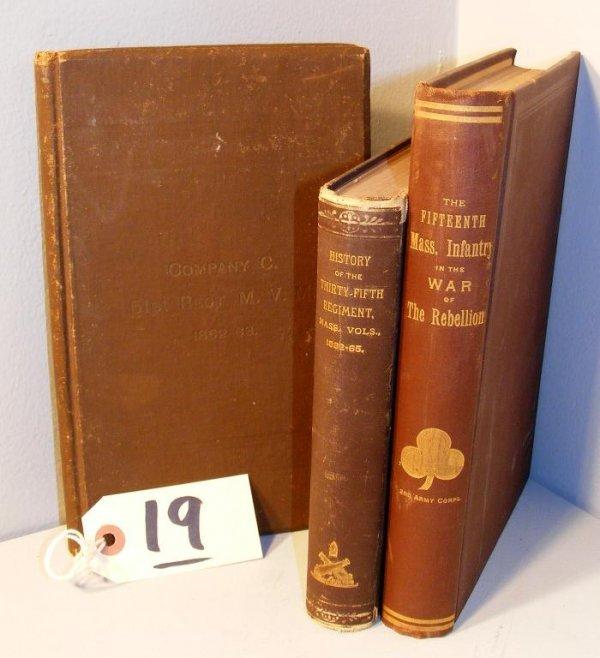 19: Massachusetts Regimental Civil War Books (signed)