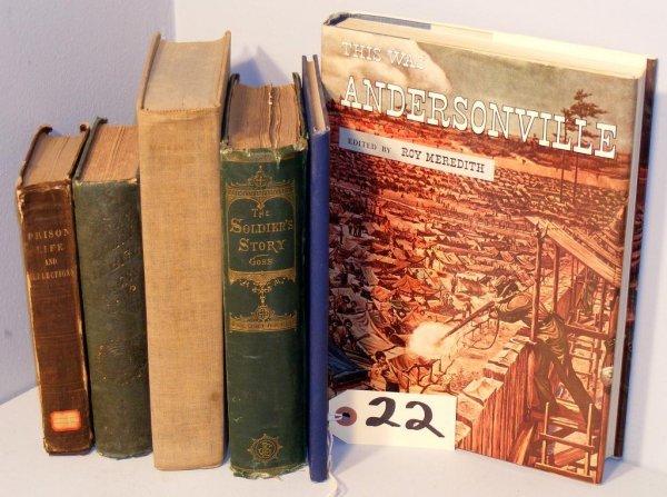 22: Civil War Prison related Books (6)