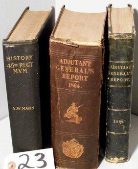 23: Regimental & Adjutant Gen State of Maine Books