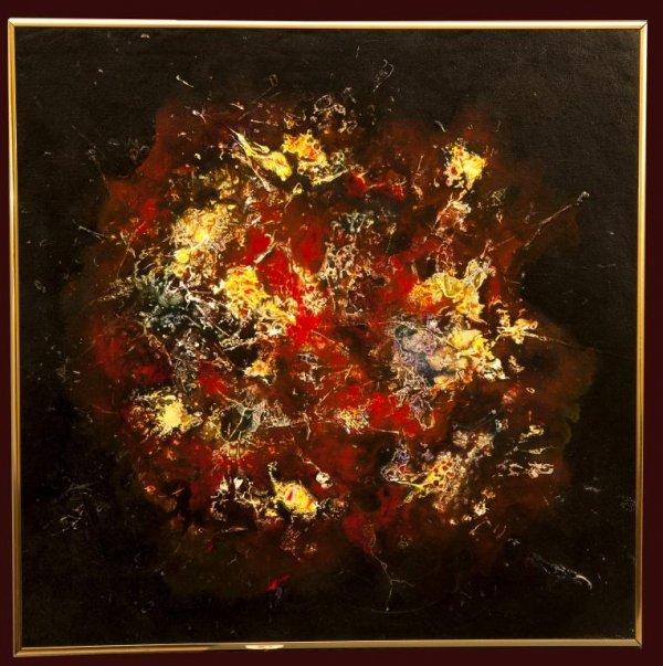 252: Gerald A. Pogach (1929 - 1996) Acrylic on Canvas