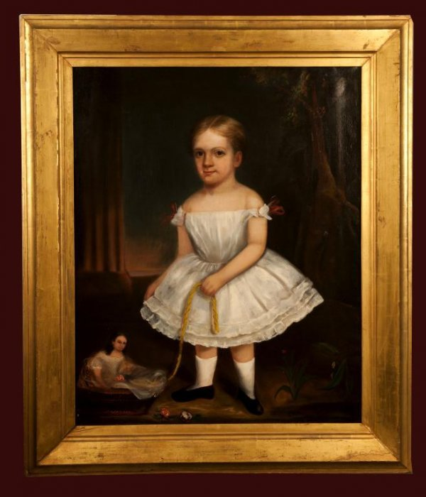 260: Early Oil on Canvas, Portrait - George Hay's Daug