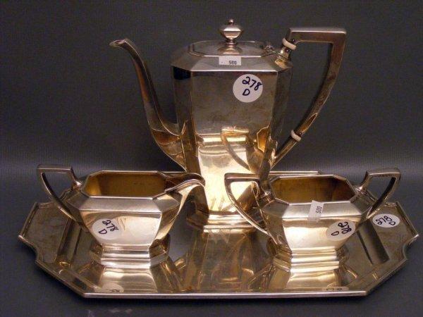 278D: Gorham Sterling Silver Tea Set