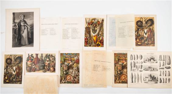 Stone Lithographs from German Books (9)