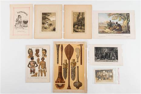 Early Lithographs African and Black Americana
