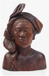 Carved Wood Bust / Polynesian