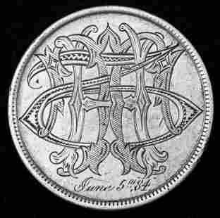 Victorian Love Token / Silver Dollar
