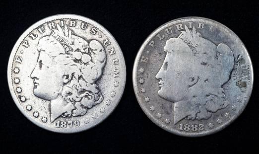 Victorian Love Token / Silver Dollars (2)