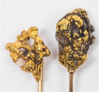 CA Gold Rush Nugget Stick Pin
