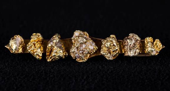 CA Gold Rush Nugget Bar Pin / Victorian