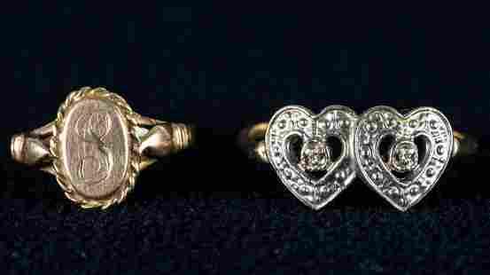 10K Gold Rings (2)