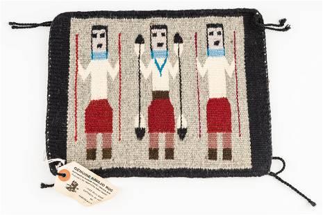Genuine Navajo Rug / Miniature
