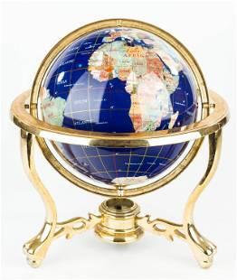 20th Century Lapis Globe