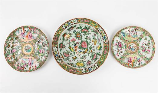 18th/19th Century Famille Rose Plates w/Bowl