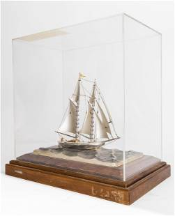 Limited Edition Sterling Ship With Cover